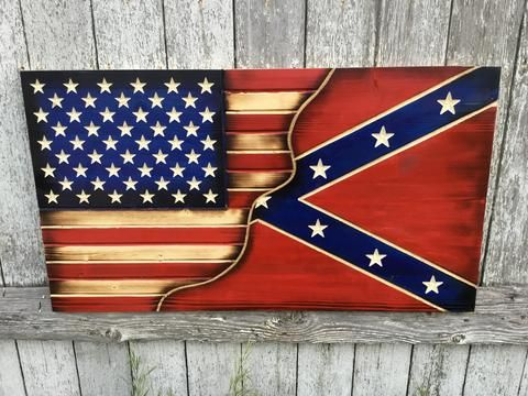 American Confederate Split Series American Flag Wood Flag Crafts Wooden Flag