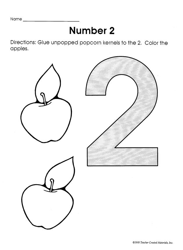 This math worksheet for preschoolers is meant to help kids – Number 2 Worksheets for Kindergarten