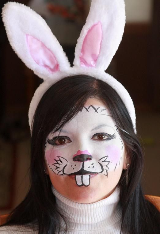 Rabbit face makeup face painting yourself is not as easy as it rabbit face makeup face painting yourself is not as easy as it looks but it can be solutioingenieria Gallery