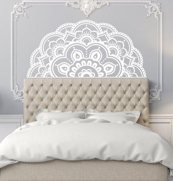 half mandala wall decals headboard master bedroom mandala on wall stickers for bedroom id=37064