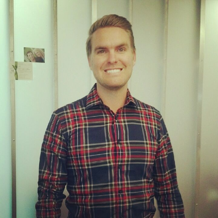 "CEO    Scott Linford   Scott likes plaid and his favorite tagline is, ""BOOM!"" #CEO #oozlemedia #meetusmonday #monday #boom #tagline #plaid"