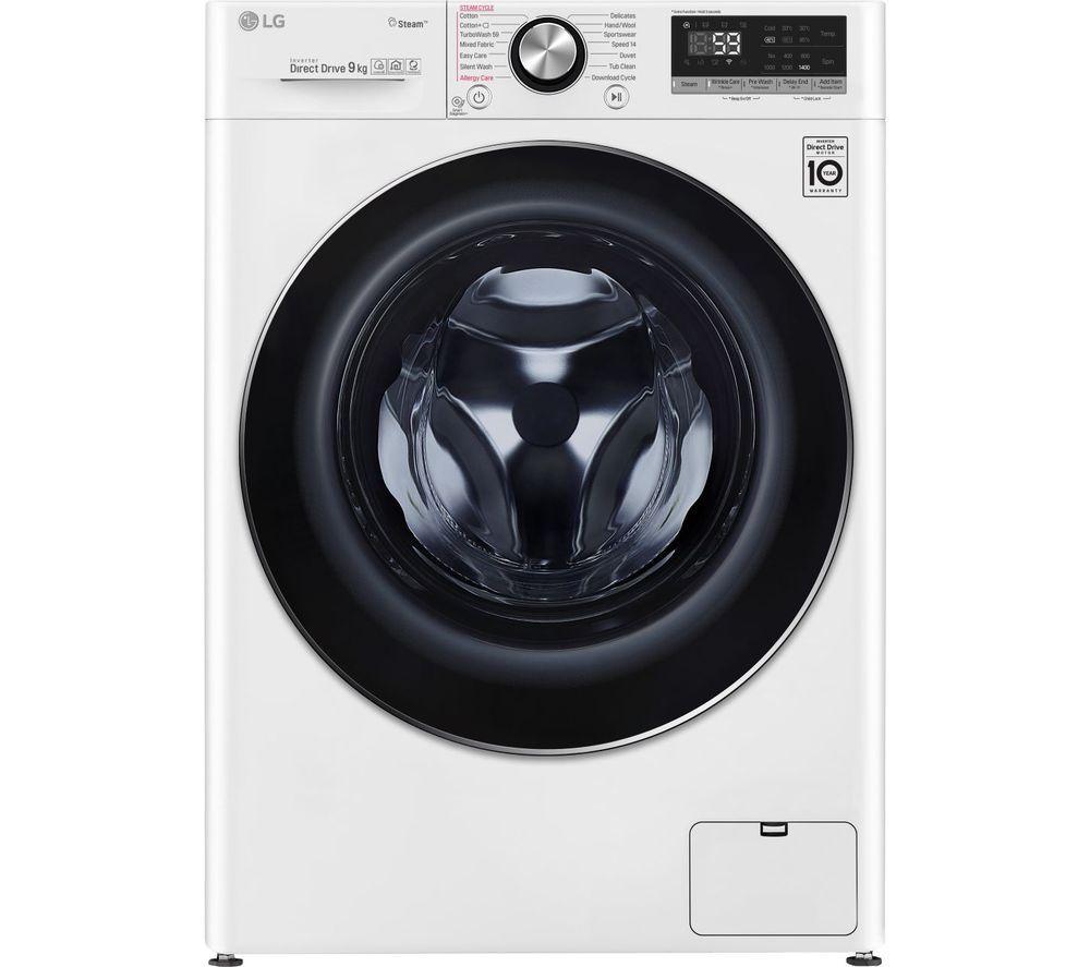 Lg Turbowash With Ai Dd V7 F4v709wts Wifi Enabled 9 Kg 1400 Spin Washing Machine White White 499 In 2020 Lg Washing Machines White Washing Machines Washing Machine