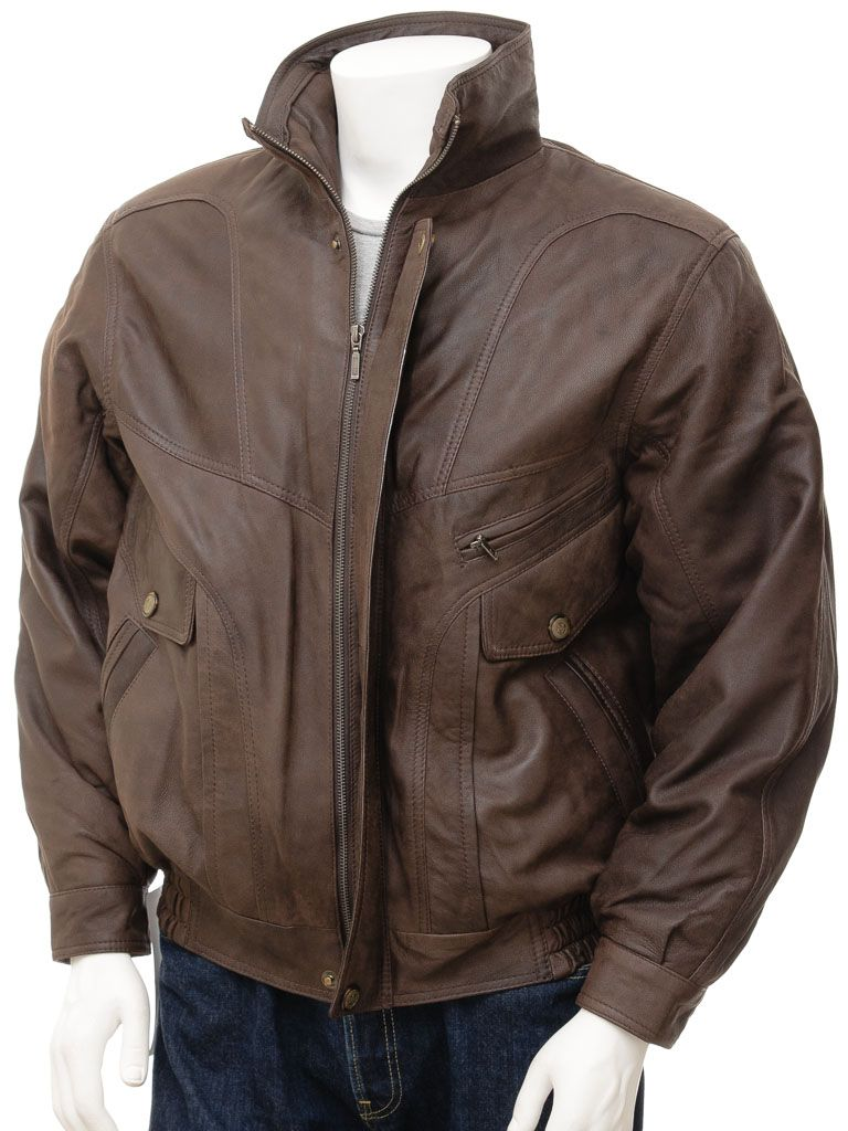 Mens Leather Jacket In Brown Trieste Men Leather Jacket Men Bomber Jacket Men Leather Bomber Jacket [ 1024 x 768 Pixel ]