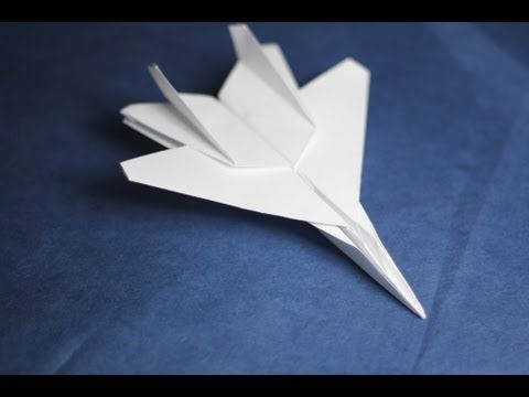 Origami Paper Planes: How to fold a Jet Fighter Plane | Einfach ...