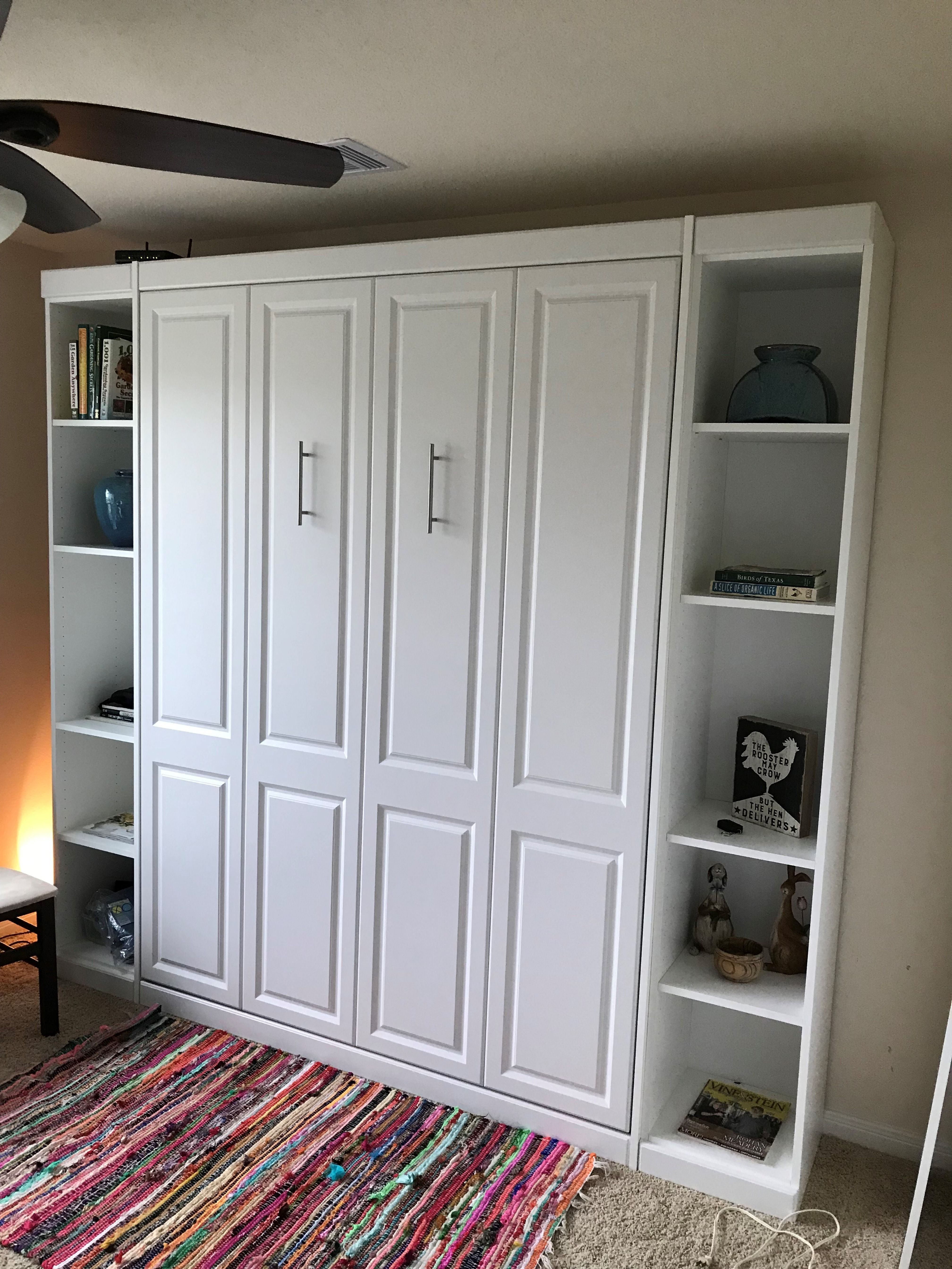 The panel bed saves even more space without the bifold