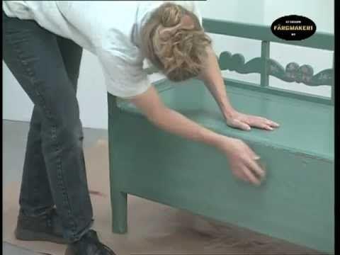 Lackieren von bemalten Holzarbeiten mit Ottosson Leinölfarben im Innberen Bereich