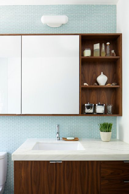 Add Extra Storage With A Medicine Cabinet Replacing Your Bathroom Mirror With A Large Mi Bathroom Mirror Cabinet Bathroom Mirror Storage Bathroom Mirror Design