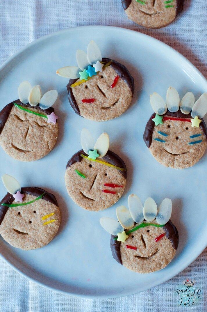 Indianer-Kekse für kleine Entdecker - Made with Luba - Kreativer Küchenspaß #buffet