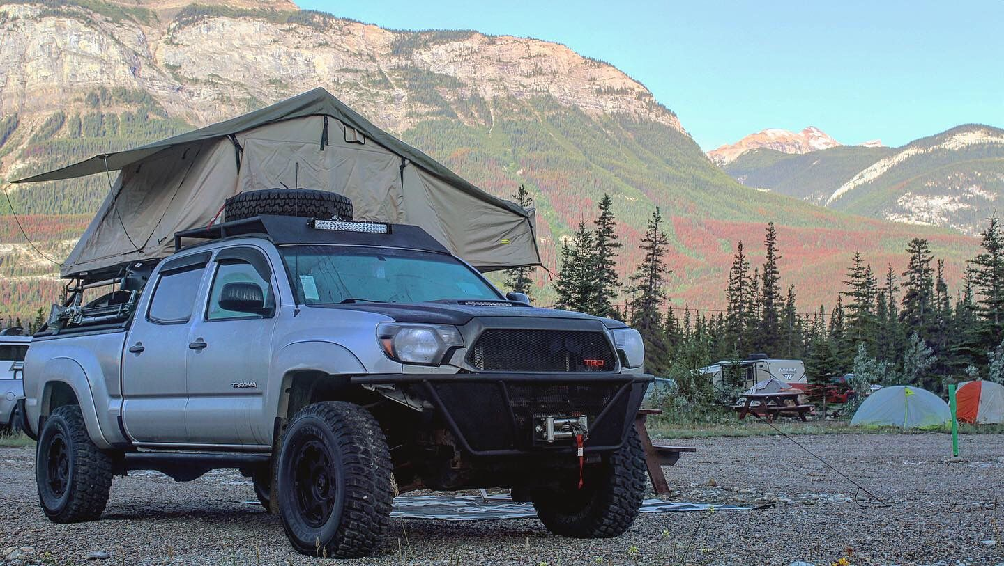 roof top tent, MT tires, Bumpers, roof rack, bed