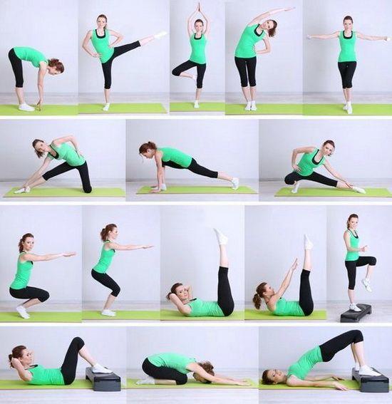 упражнения для похудения бёдер и ляшек