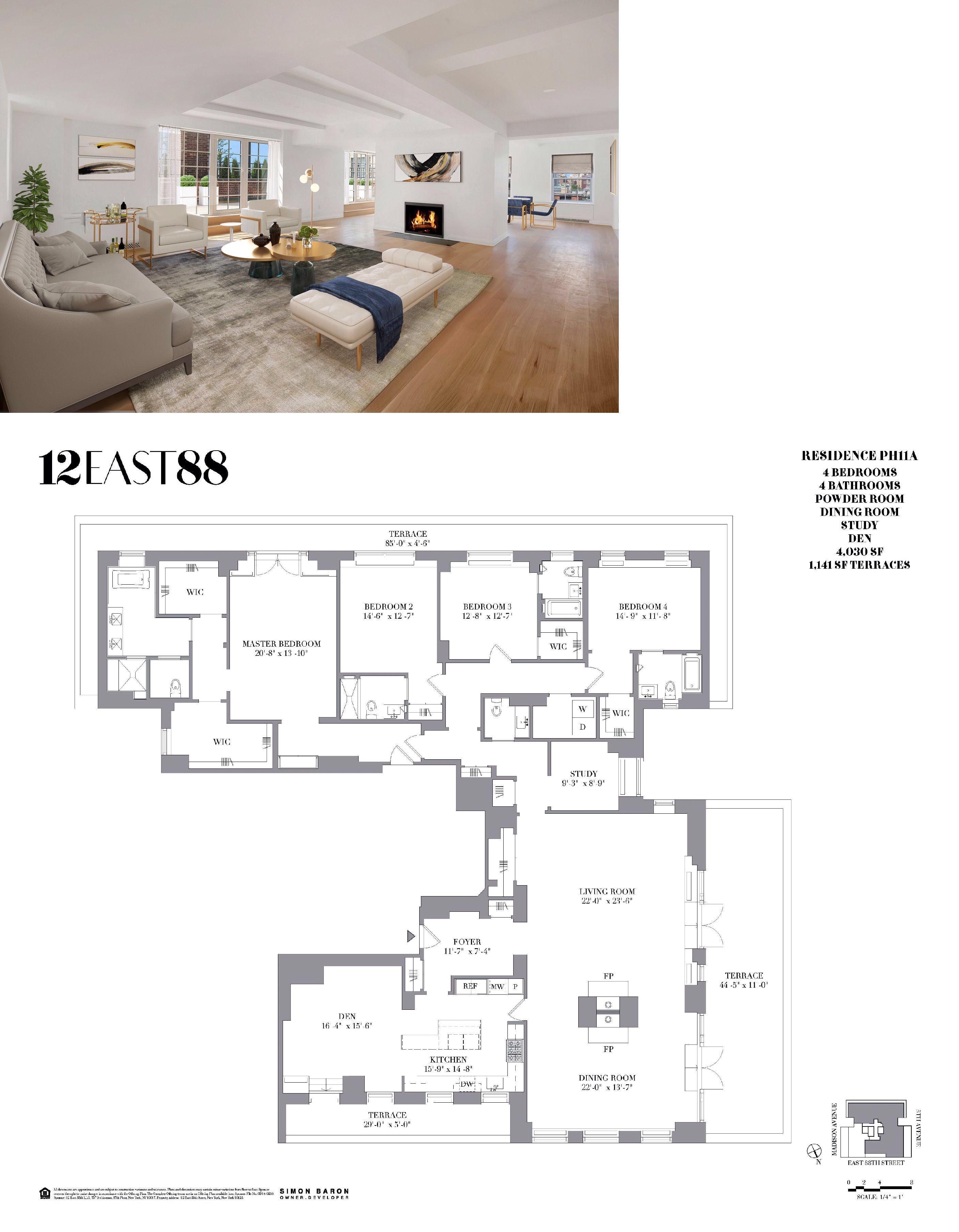For 12 5m An Upper East Side Penthouse With 3 Private Terraces Central Park Views Curbed Ny Courtyard House Plans Apartment Floor Plans House Plans