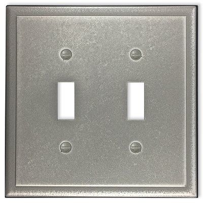 Questech Ambient 2 Gang Toggle Light Switch Wall Plate In