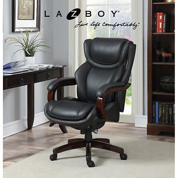 Lazboy Office Chair Antique Barber Chairs For Sale La Z Boy Top Grain Leather Executive Furniture