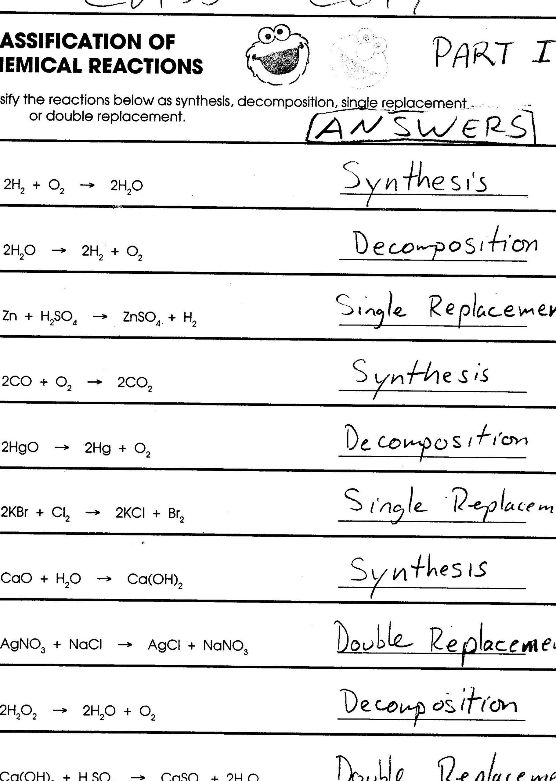 Classifying Matter Worksheet Answers Chemistry Worksheet