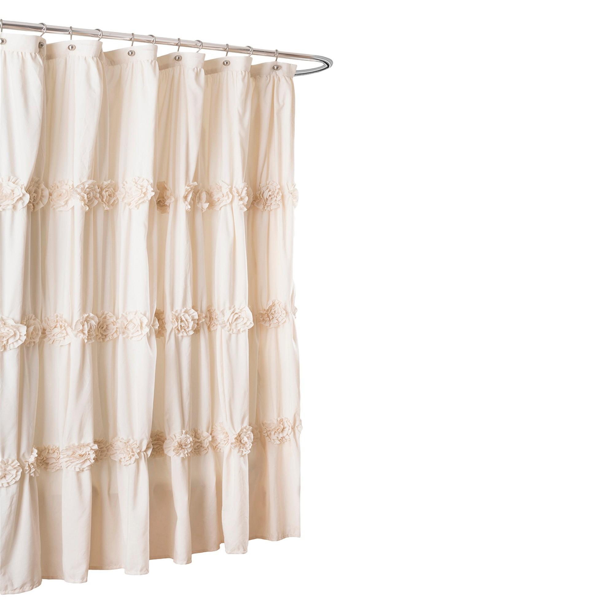 Darla Horiz Texture Shower Curtain Off White Lush Decor Shabby