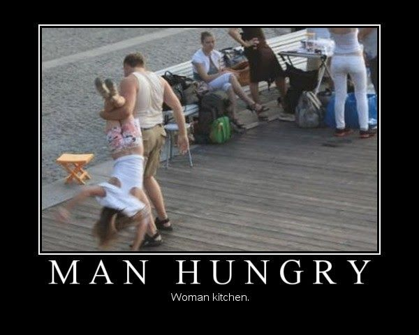 Viral Pictures Of The Day Man Hungry Woman Kitchen