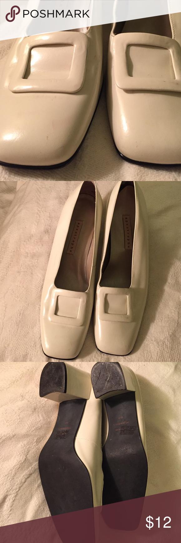 Aposthphe shoes color cream Shoes size 9/5color cream comfortable good condition Apostrophe Shoes Heels