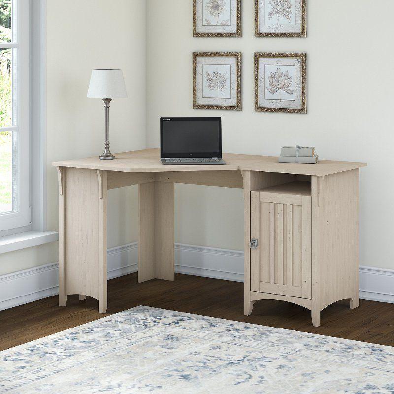 Antique White Corner Desk With Storage Salinas Corner Desk White Corner Desk Bush Furniture