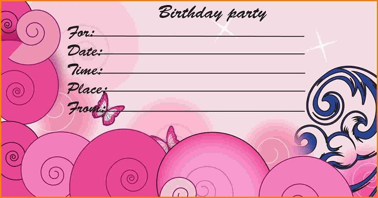 Happy birthday invitation card with Pink Color Invitation Ideas in