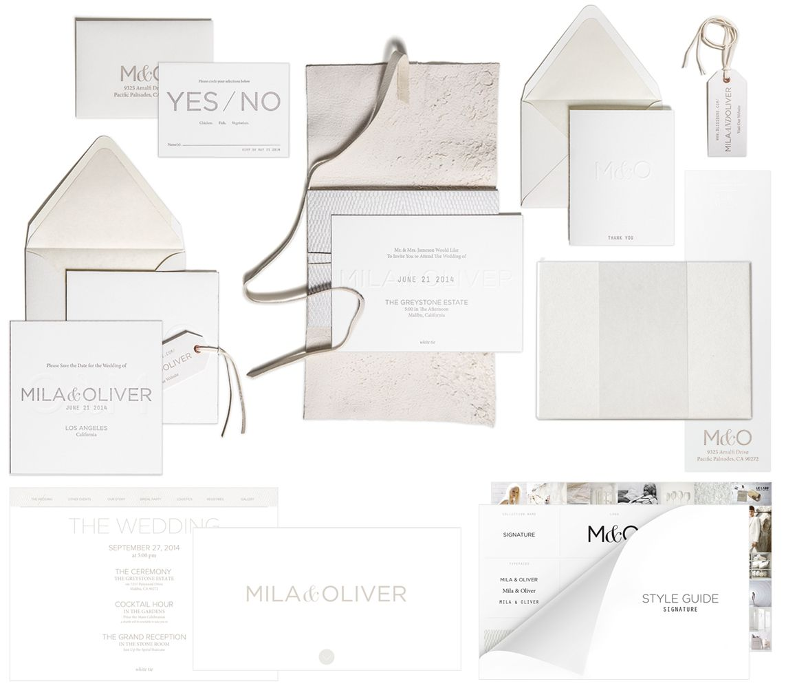 Most Expensive Wedding Invitations: Signature Invitation Suite By @Bliss & Bone #wedding