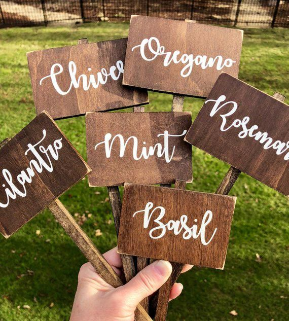 Rustic herb marker, garden marker, plant markers, garden markers, vegetable markers, garden signs, mother's day gift, plant lover gift, mom
