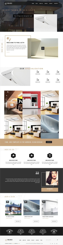 Find ARC - Interior Design, Architecture - WordPress Theme ...