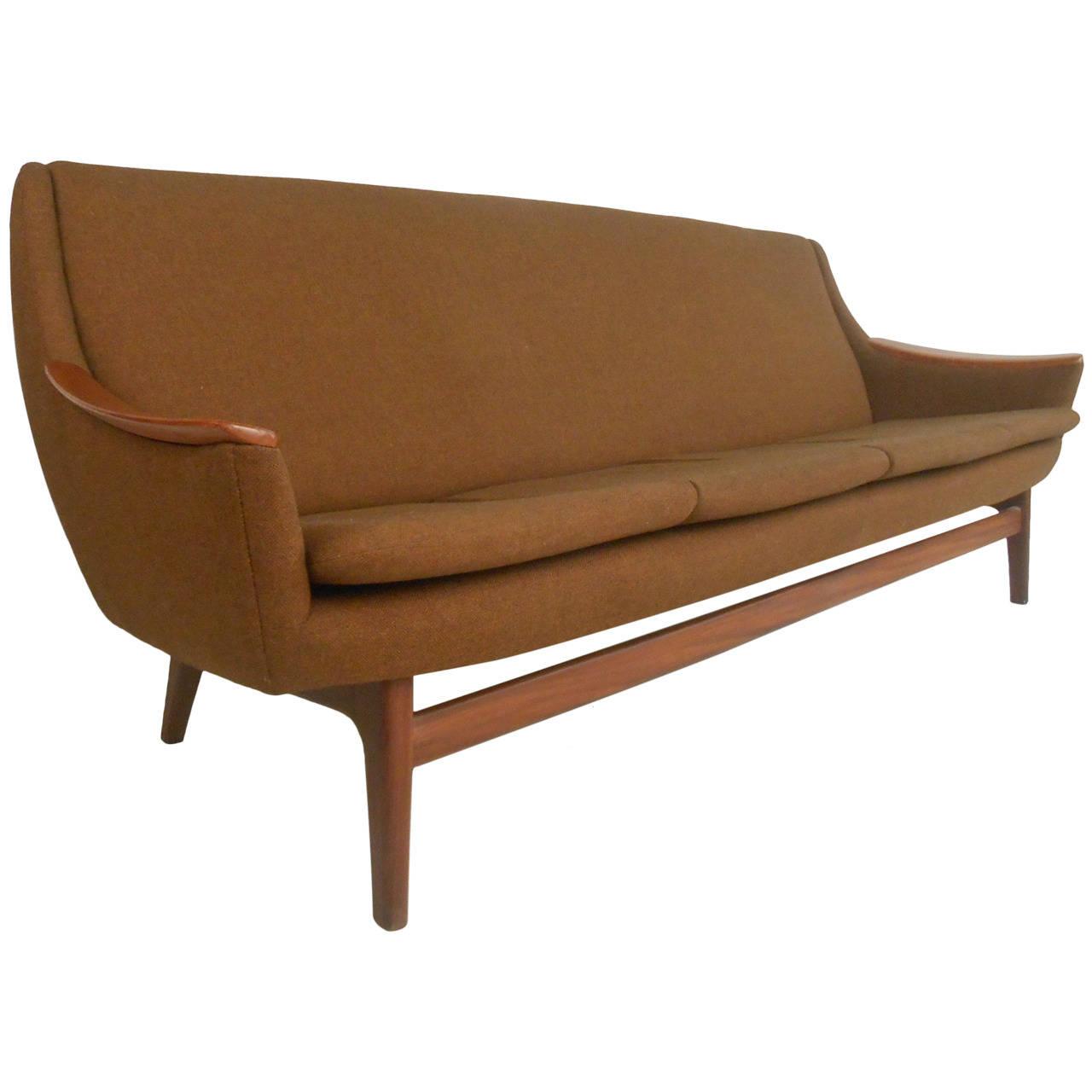 Long Scandinavian Modern Sofa  Mid Century Modern