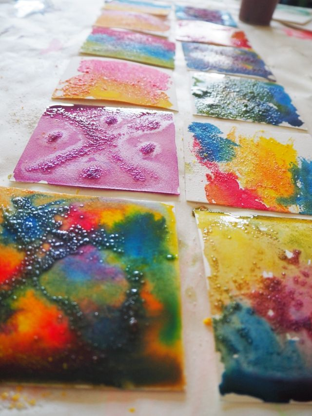 Watercolour And Salt Science And Art Exploration For Kids Art