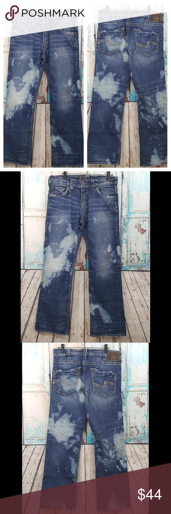 d2cf733c Silver Zac Relaxed Fit Jeans Bleach Wash Mens Zac Silver Jeans Relax Fit  Denim Jeans Size