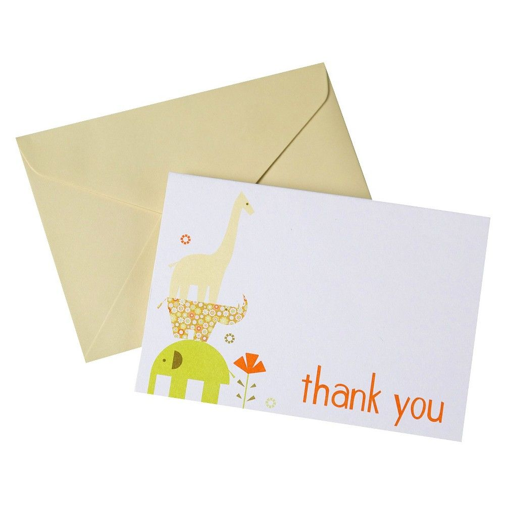 Baby Animal Thank You Cards For Baby Shower 10 Count Products