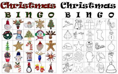printable christmas bingo cards - Christmas Bingo Printable