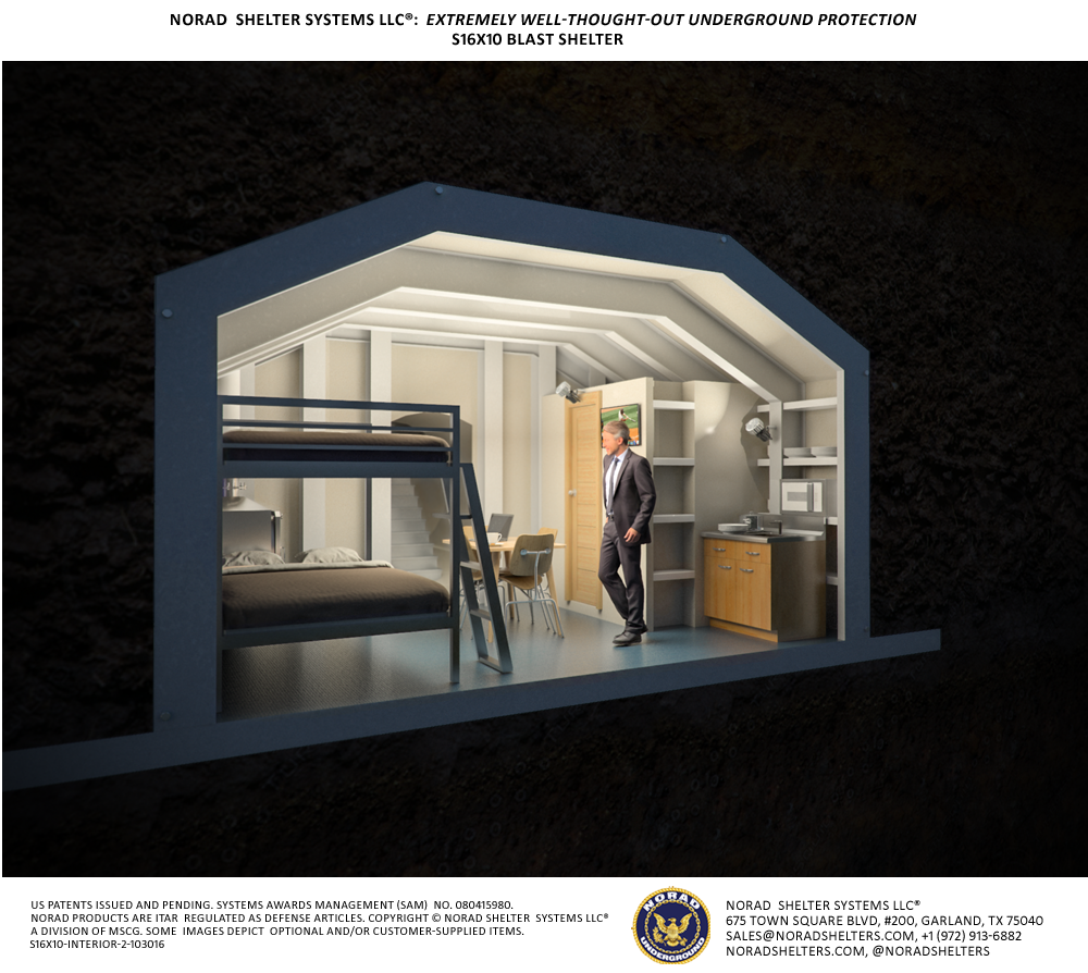 S16x10 Bomb Shelter Interior 2