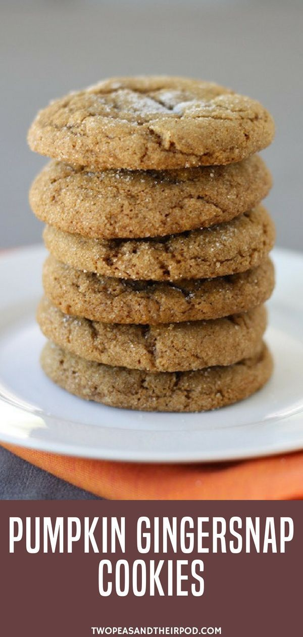 Time for some pumpkin cookie desserts! Make these Pumpkin Gingersnap Cookies.  P... Time for some pumpkin cookie desserts! Make these Pumpkin Gingersnap Cookies.  P...
