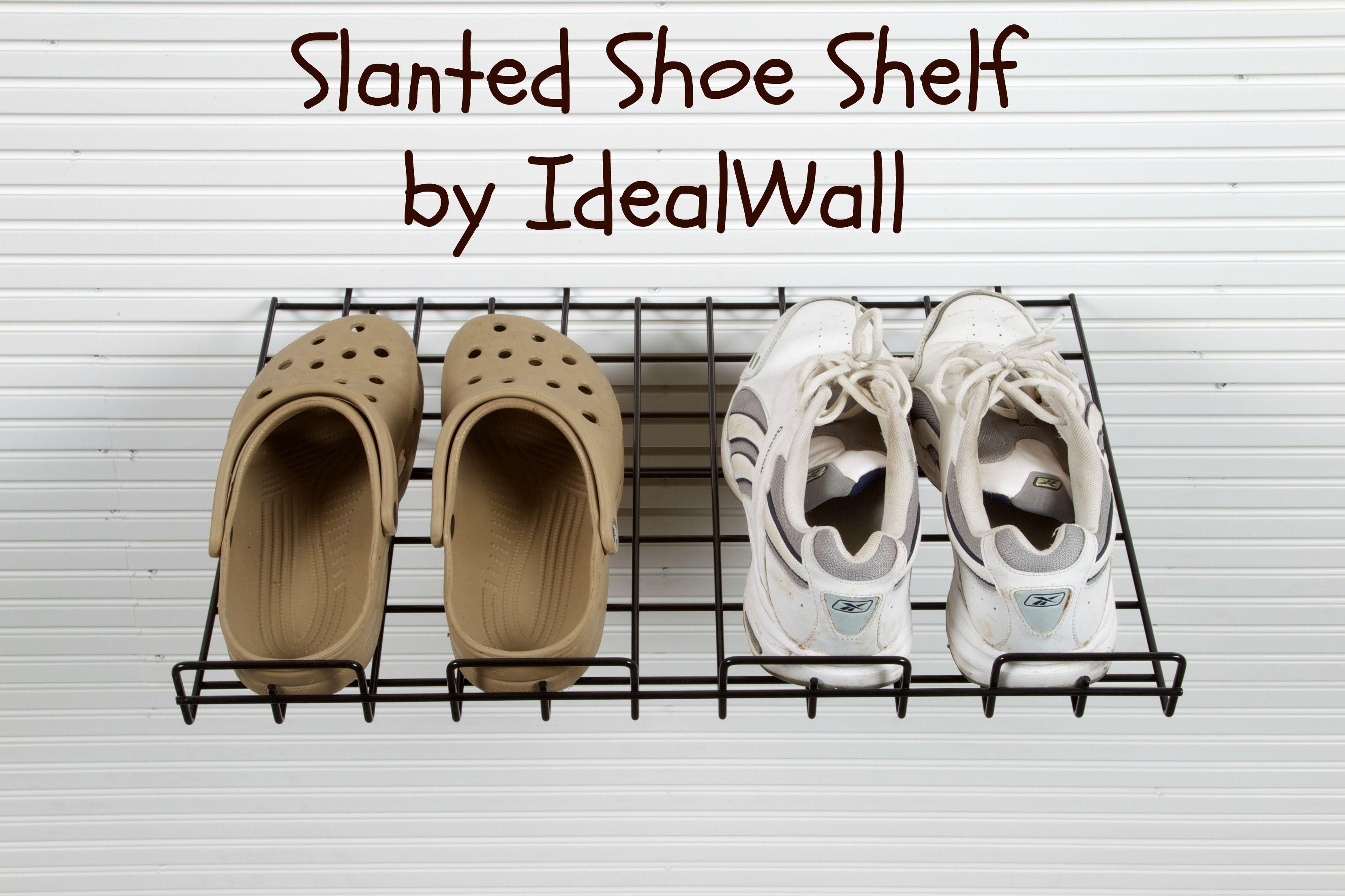 SlatWall Accessories - Slanted Shoe Shelf • Only $12.99 but heels may not feel so well