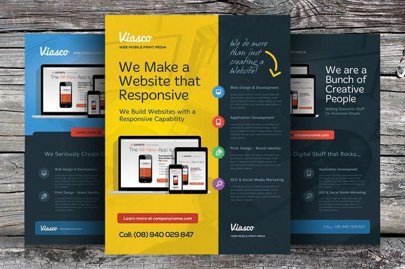 Creative Design Agency Flyers – Web Flyer Template