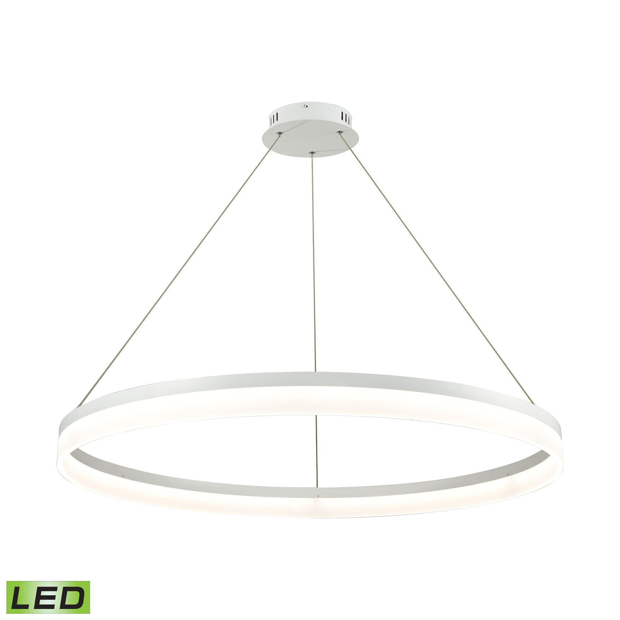Alico lcn cycloid collection matte white finish pendant