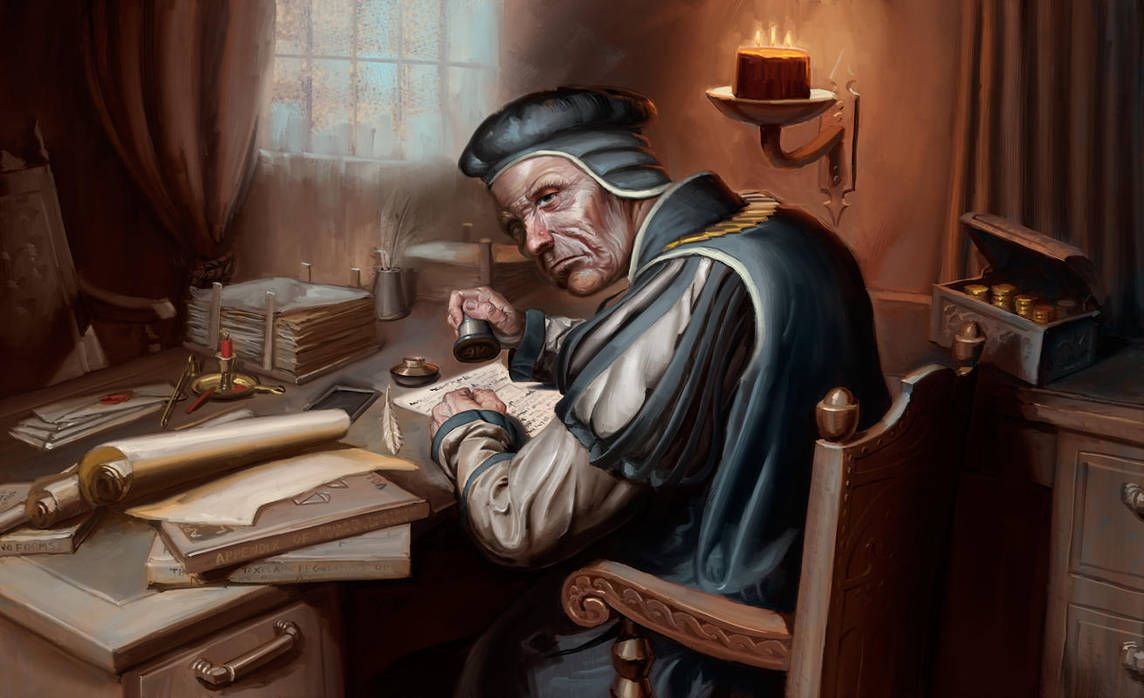 Bureaucrat by JoeSlucher tags: noble, human | Character art, Cool  paintings, Medieval fantasy
