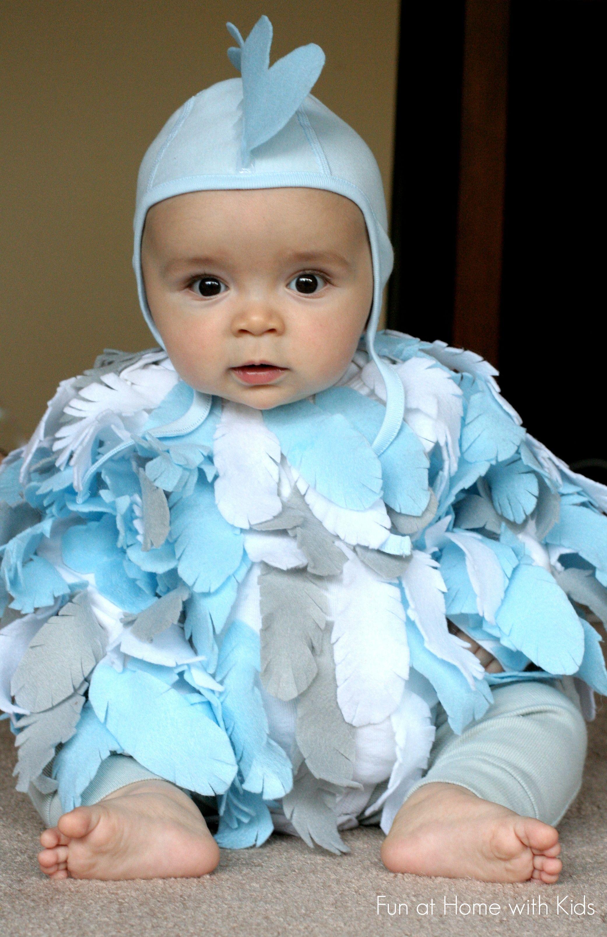 diy no sew baby chicken halloween costume | baby & toddler