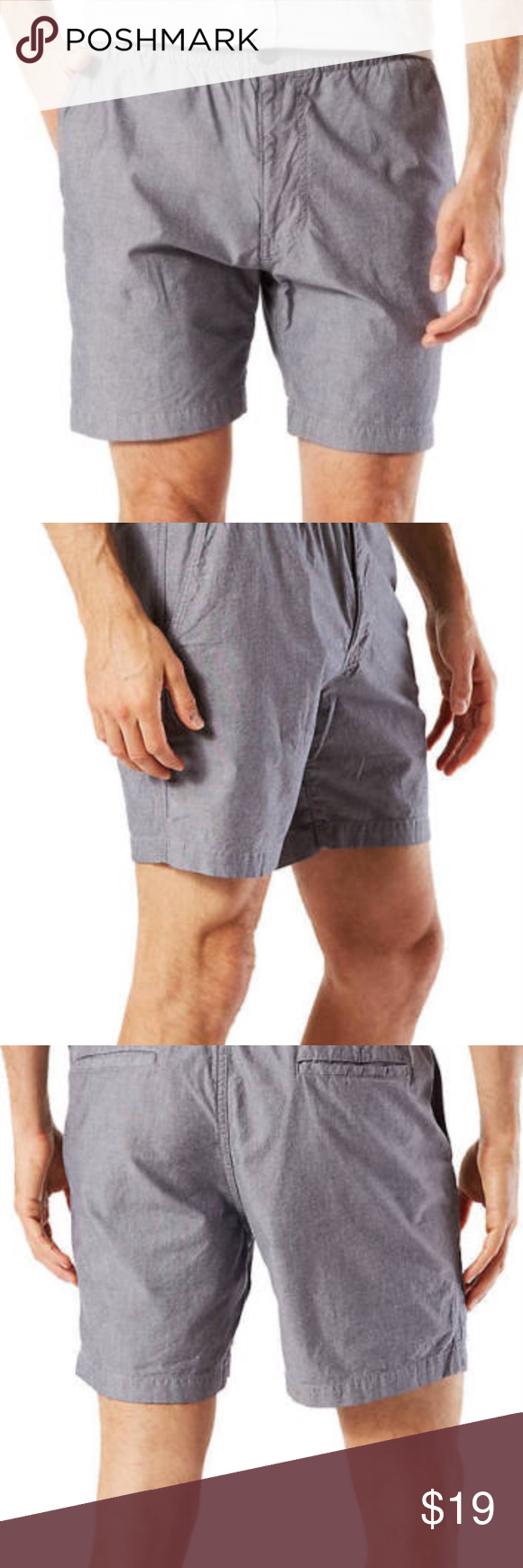 77b4e268d6 Mens Dockers Weekend Cruiser Shorts Grey Dockers Weekend -Cruiser Shorts  Colors: Beige, Gray, Blue, Gray and white stripes MSRP $50 Elastic  waistband with ...