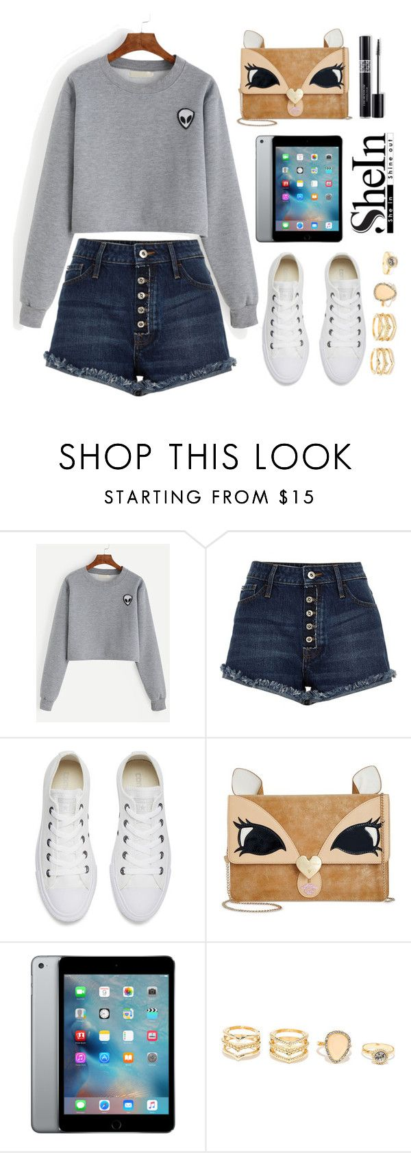 """Like ohh ahh ohh ( shein contest)"" by littleheartz ❤ liked on Polyvore featuring River Island, Converse, Betsey Johnson, Christian Dior and LULUS"