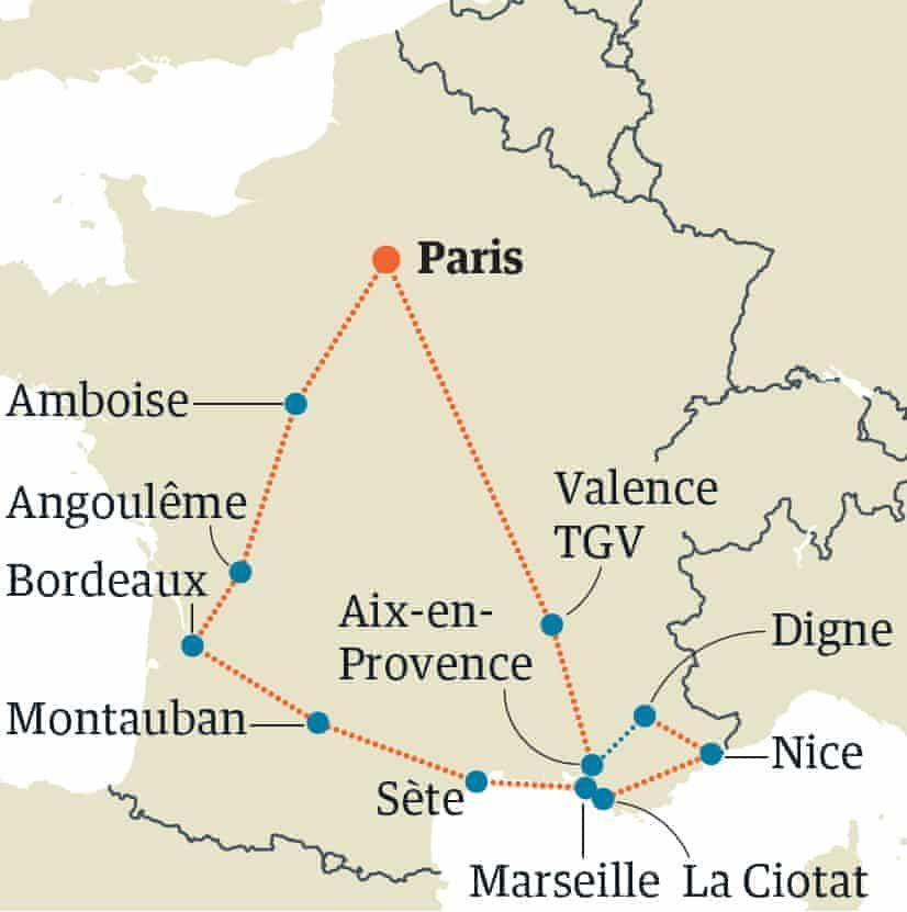 France By Train Paris Bordeaux Provence Round Trip France Train