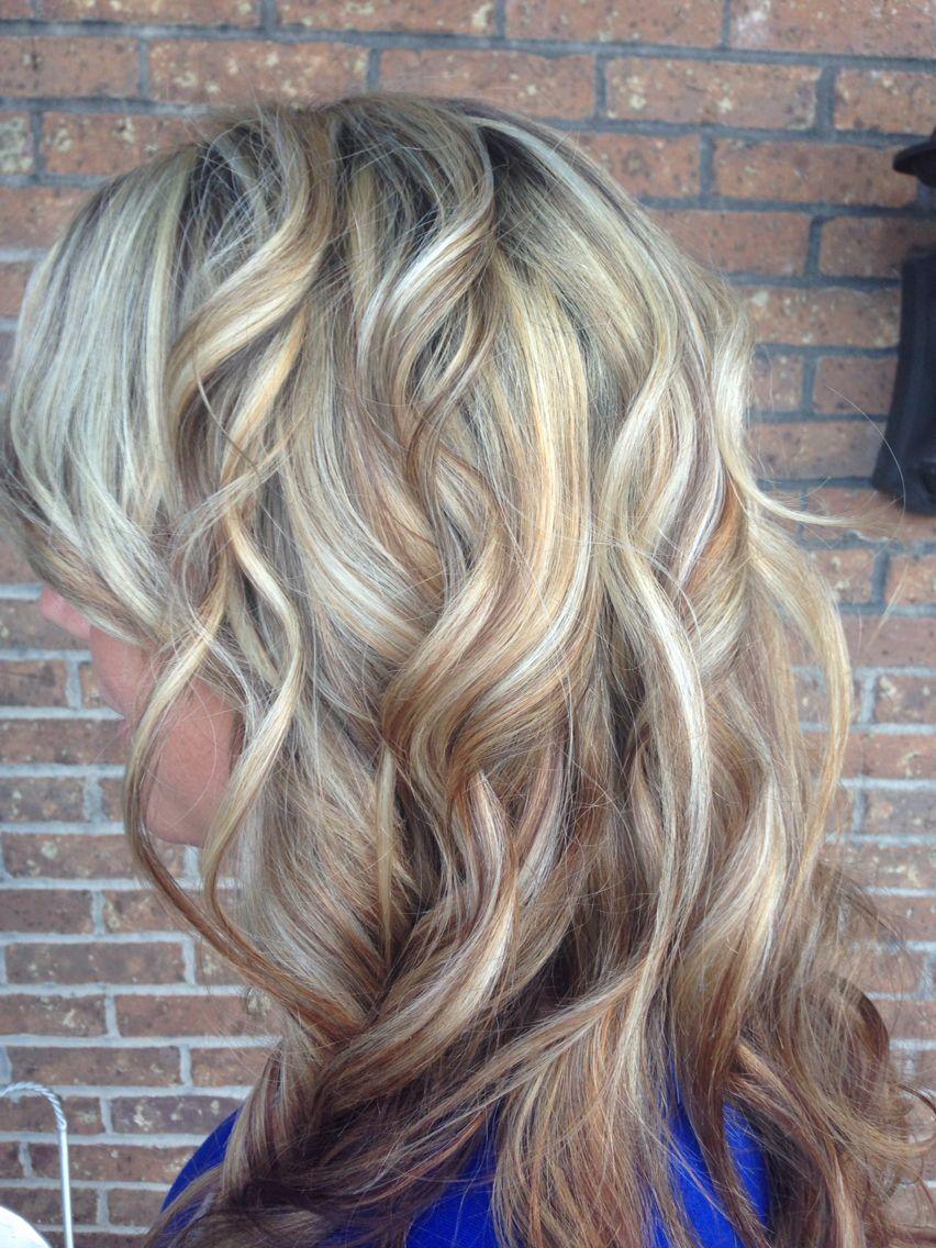 Foil hilight blonde hair by Teri Ward J McQueen Salon Cincinnati 478-3570