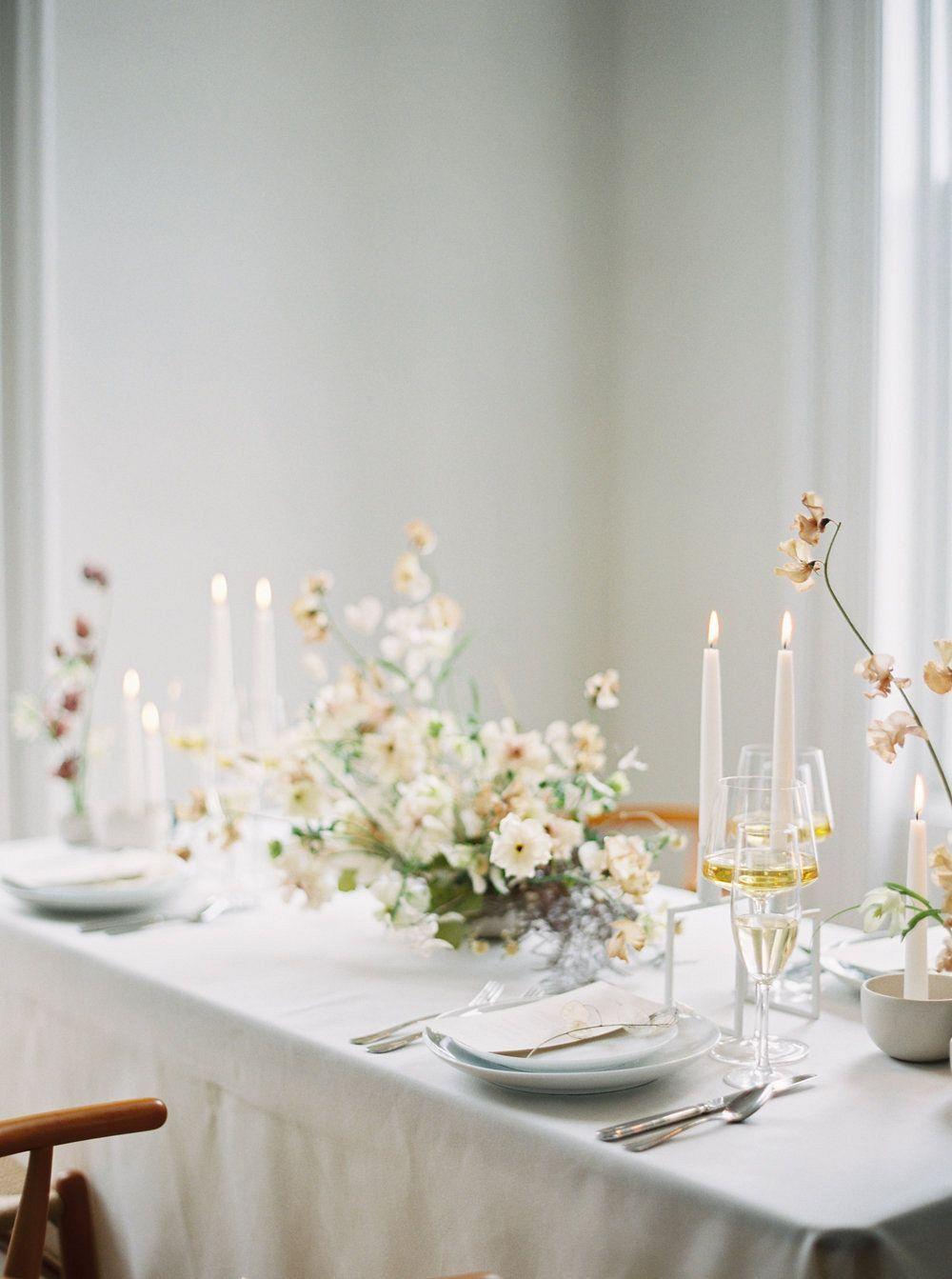 Contemporary Scandi wedding inspiration wedding decor in