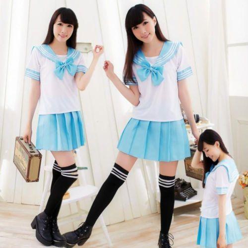 Favoritos Uniforme colegial (Seifuku) - Azul | uniforme de escola  MN42