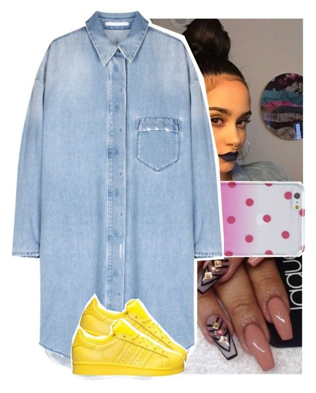 """""""."""" by theyknowtyy ❤ liked on Polyvore featuring Kate Spade and adidas"""