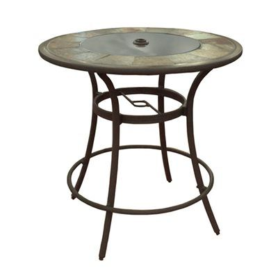 Roth Safford Round Stone Top Bar Table