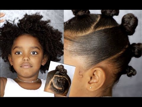 Textured Bun Hawk Tutorial Kids Natural Hairstyle Iamawog