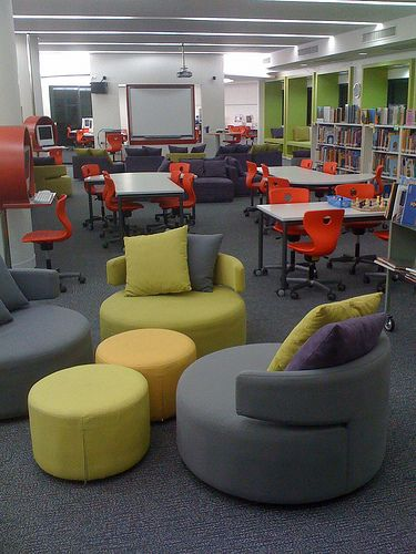 orange cafe chairs jenny lind high chair white from the back | teen space pinterest classroom, learning and classroom design