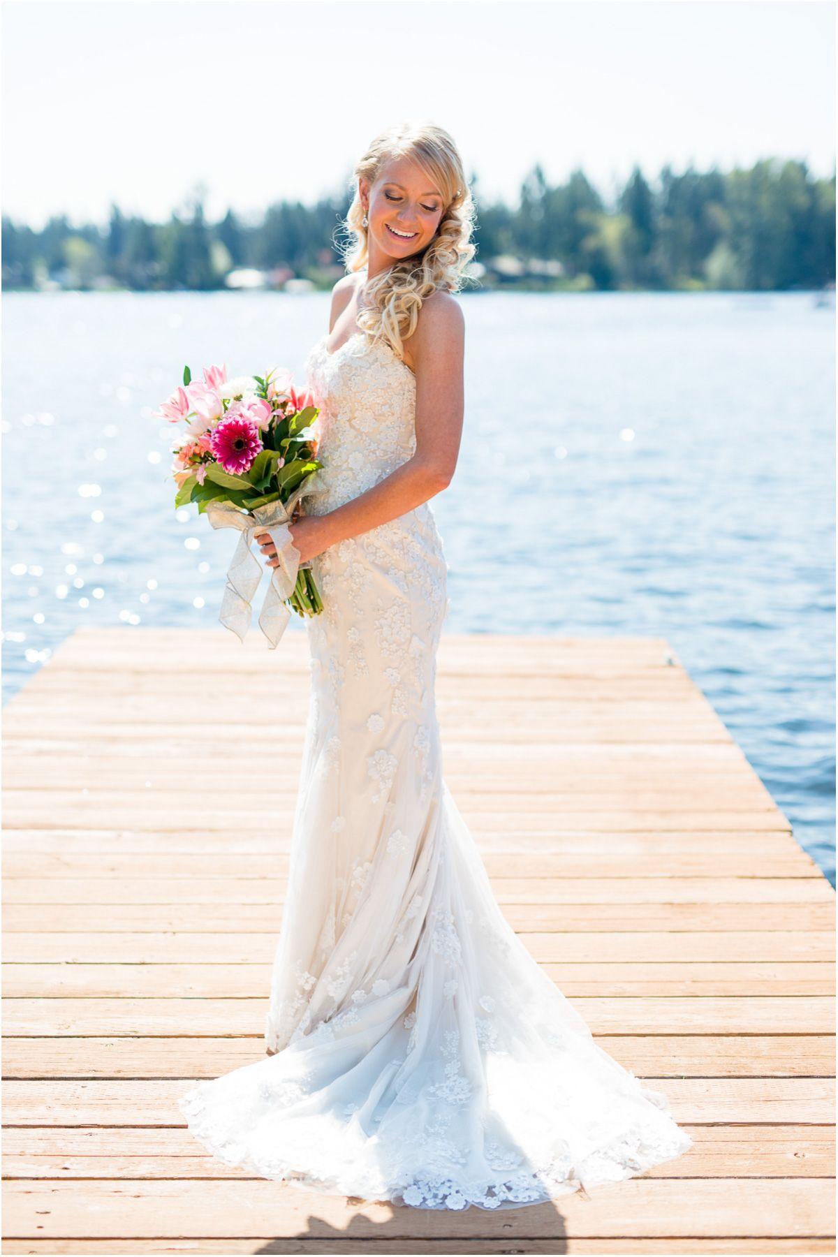 bridal | intimate backyard wedding | lakeside wedding