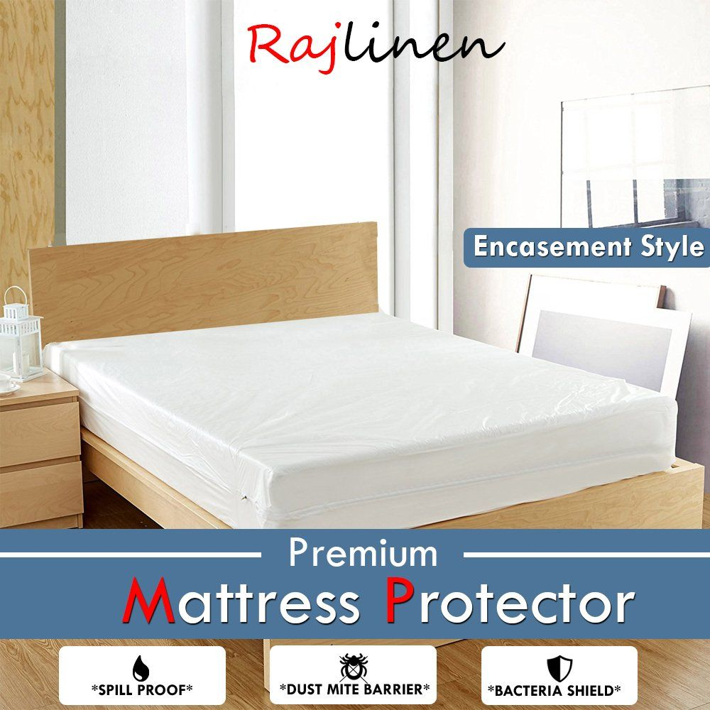 Mattress Protector Fitted Style Terry Cotton 15 Inches Deep Waterproof Cover